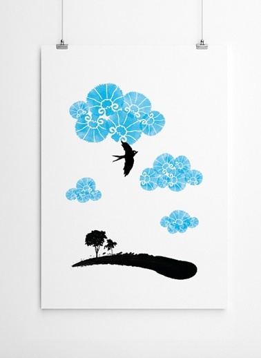Mavi Karanfiller Poster-Fabl